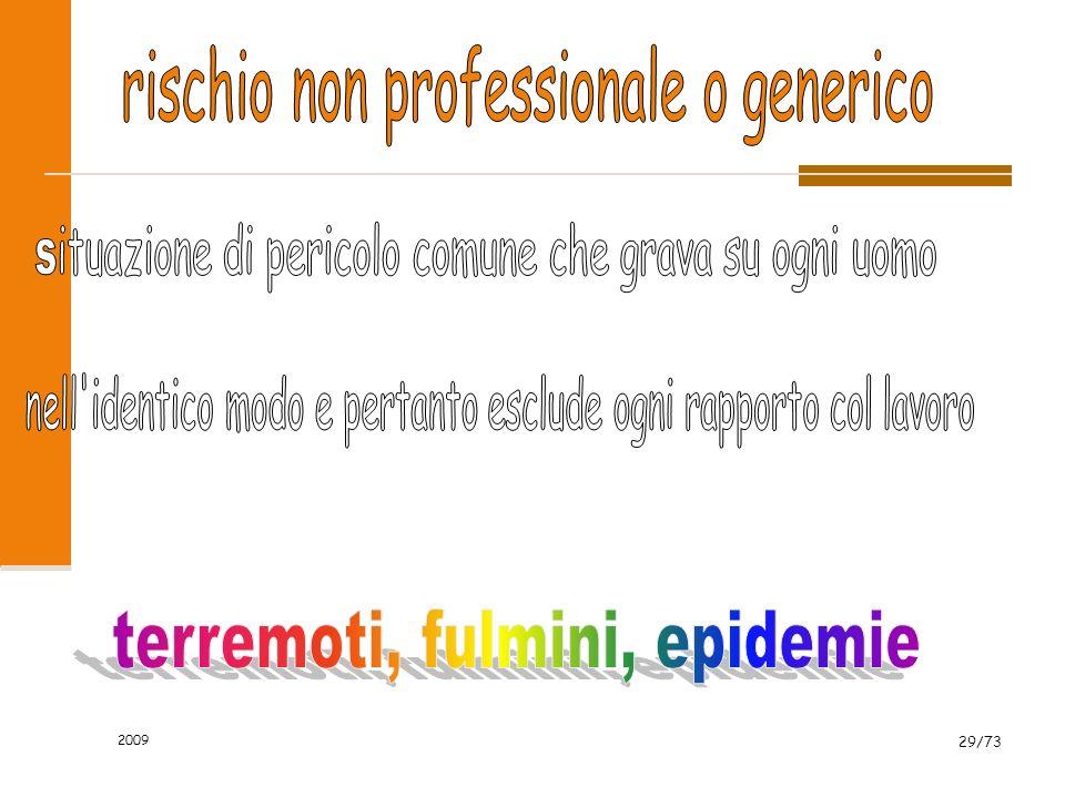 rischio non professionale o generico