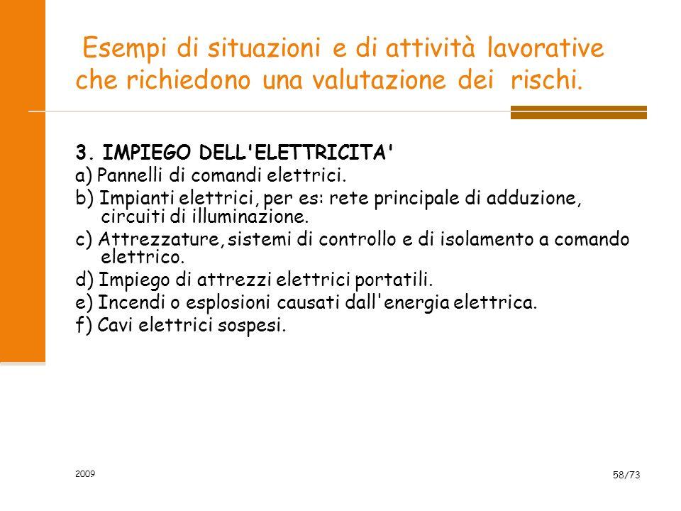 3. IMPIEGO DELL ELETTRICITA a) Pannelli di comandi elettrici.