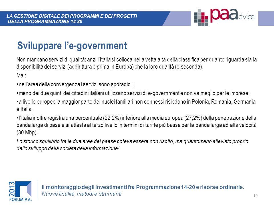 Sviluppare l'e-government