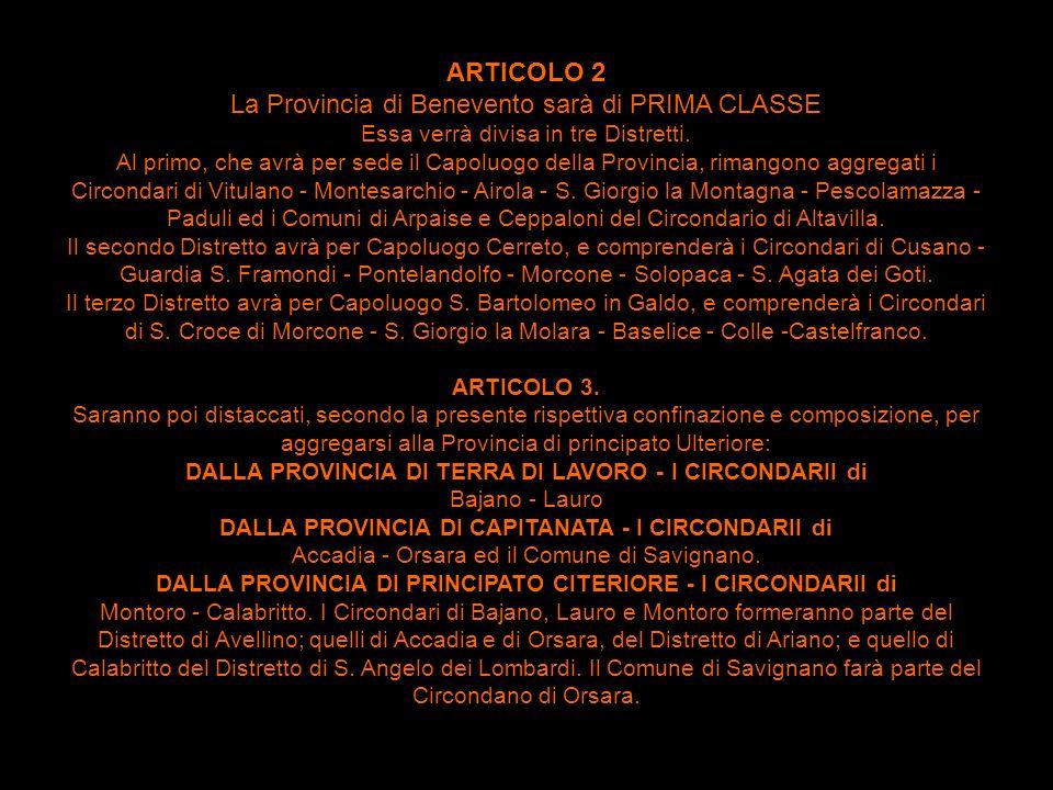 La Provincia di Benevento sarà di PRIMA CLASSE