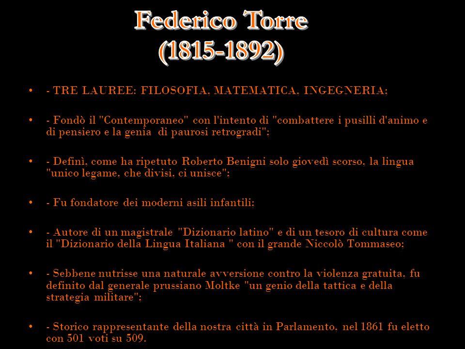 - TRE LAUREE: FILOSOFIA, MATEMATICA, INGEGNERIA;