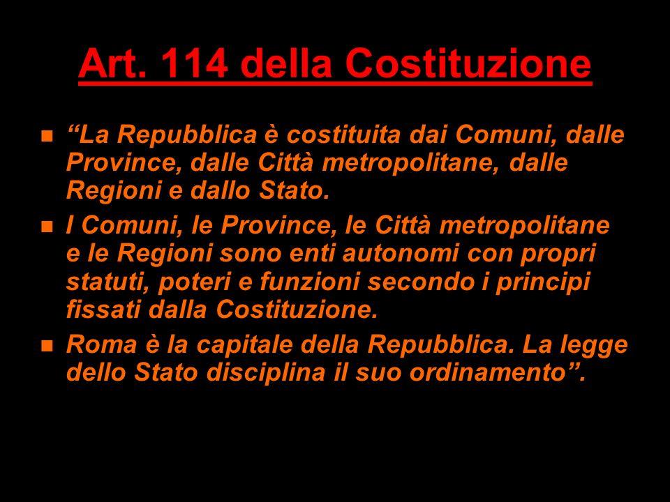 Art. 114 della Costituzione