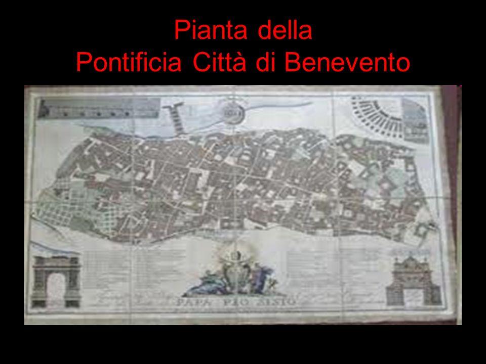 Pianta della Pontificia Città di Benevento