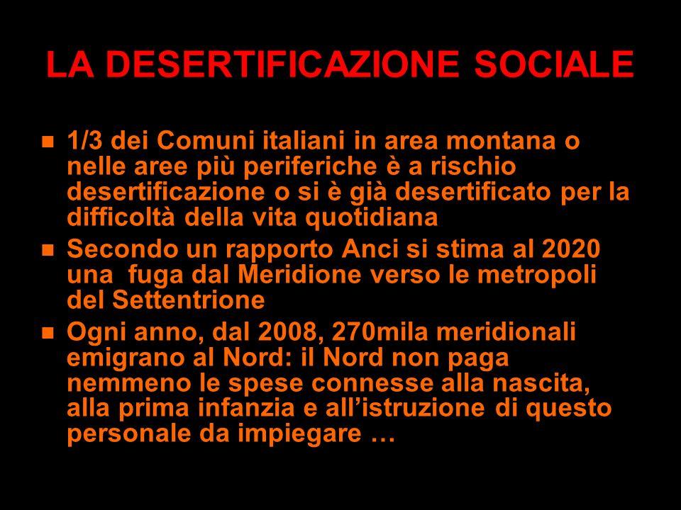 LA DESERTIFICAZIONE SOCIALE