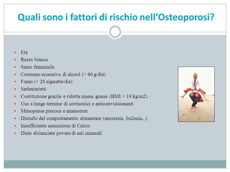 Quali sono i fattori di rischio nell'Osteoporosi