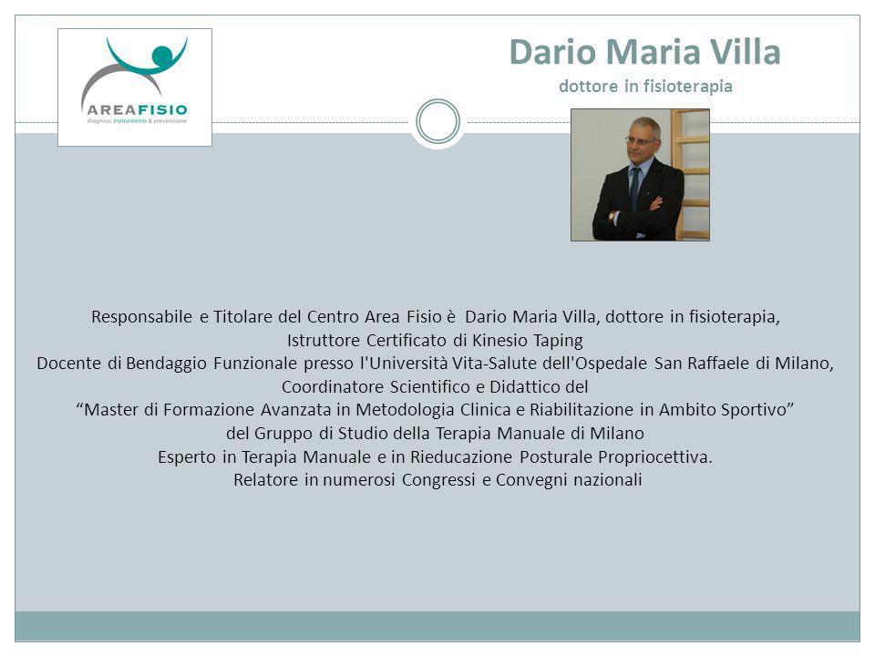 Dario Maria Villa dottore in fisioterapia