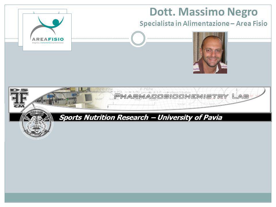 Dott. Massimo Negro Specialista in Alimentazione – Area Fisio