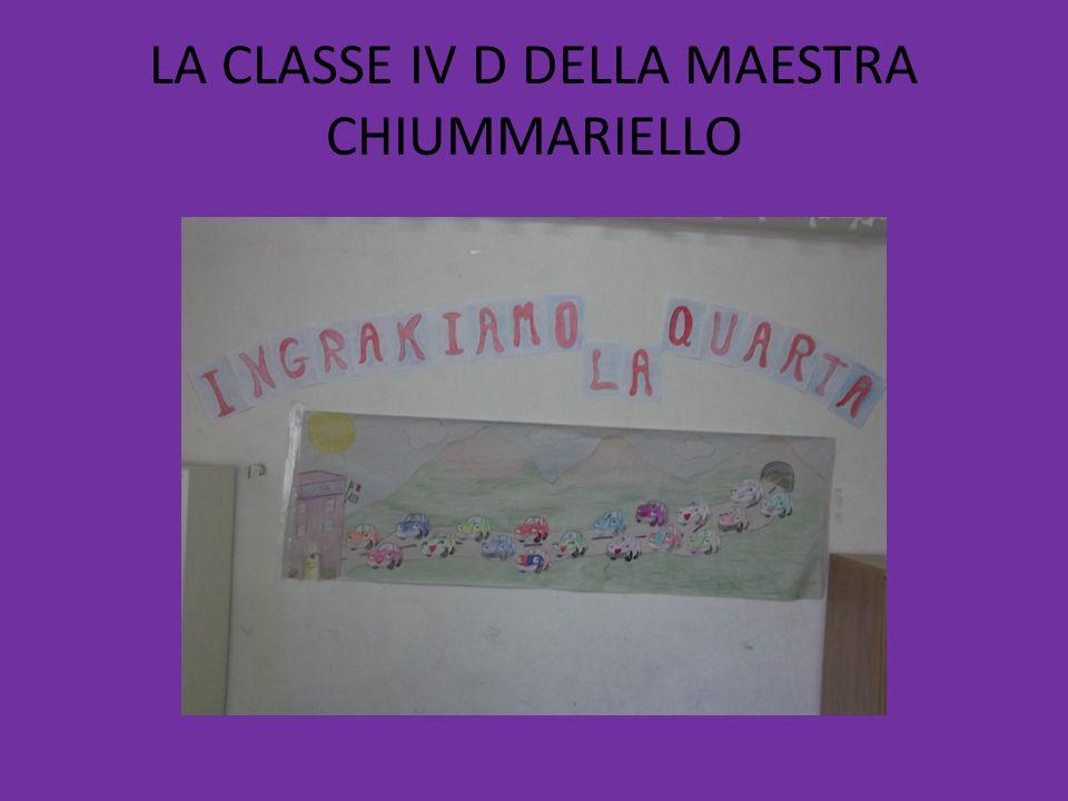 LA CLASSE IV D DELLA MAESTRA CHIUMMARIELLO