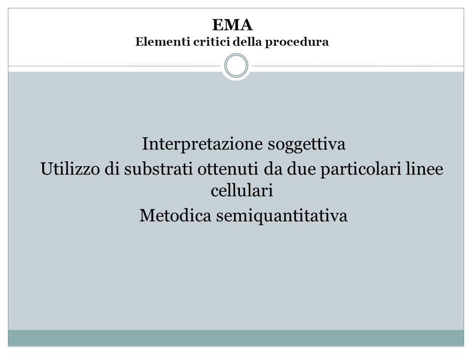 EMA Elementi critici della procedura