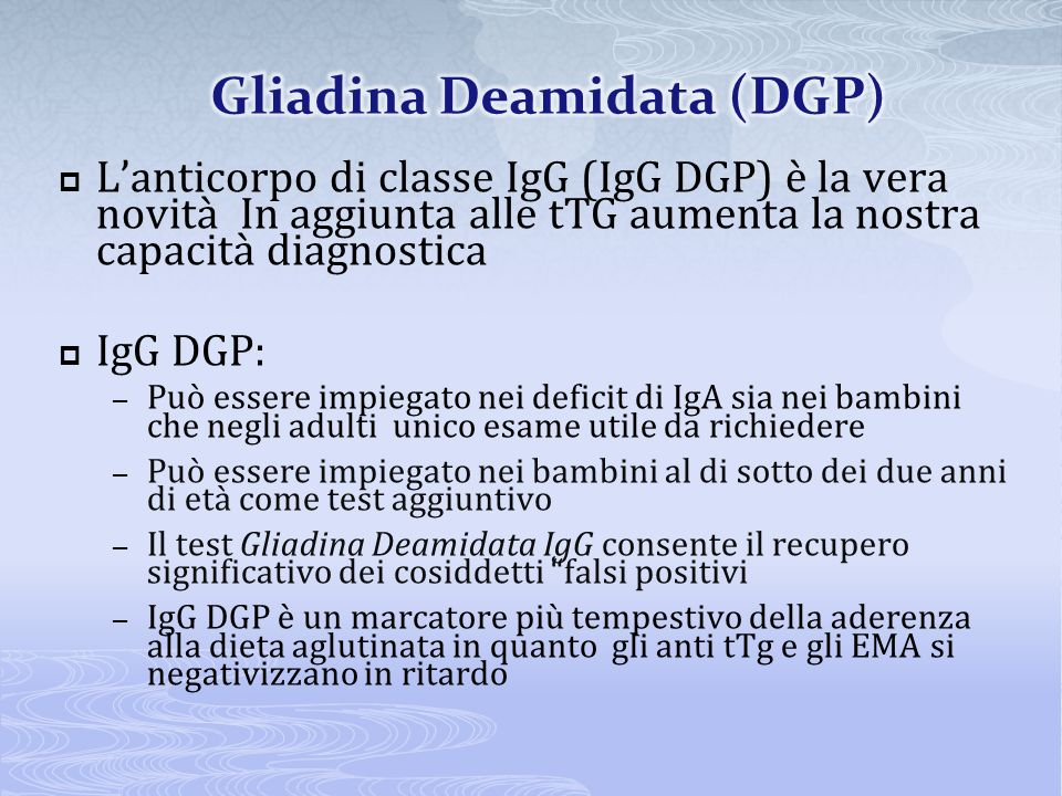Gliadina Deamidata (DGP)
