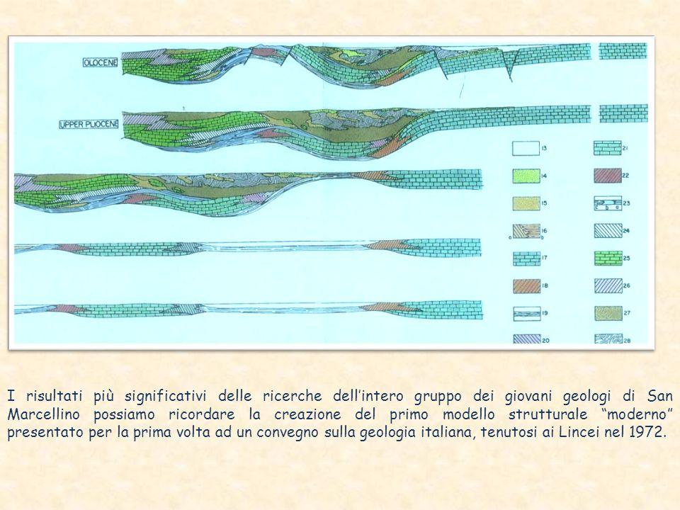 I risultati più significativi delle ricerche dell'intero gruppo dei giovani geologi di San Marcellino possiamo ricordare la creazione del primo modello strutturale moderno presentato per la prima volta ad un convegno sulla geologia italiana, tenutosi ai Lincei nel 1972.