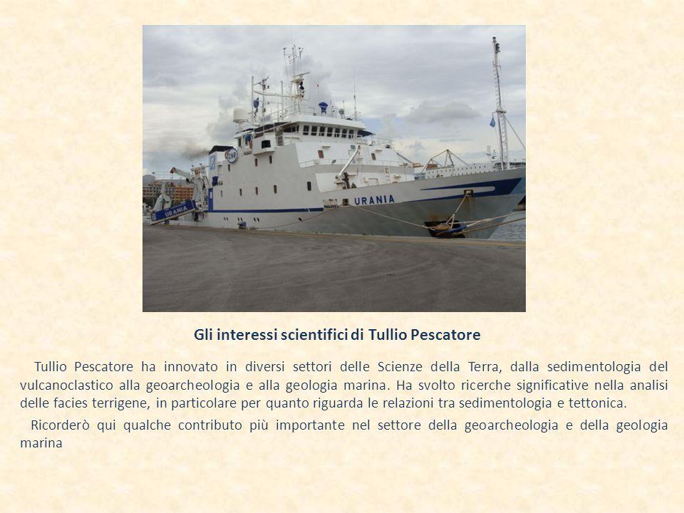 Gli interessi scientifici di Tullio Pescatore