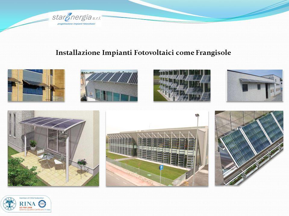 Installazione Impianti Fotovoltaici come Frangisole