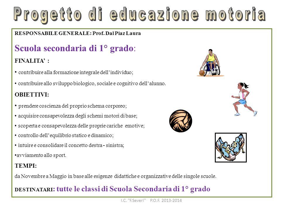 Progetto di educazione motoria