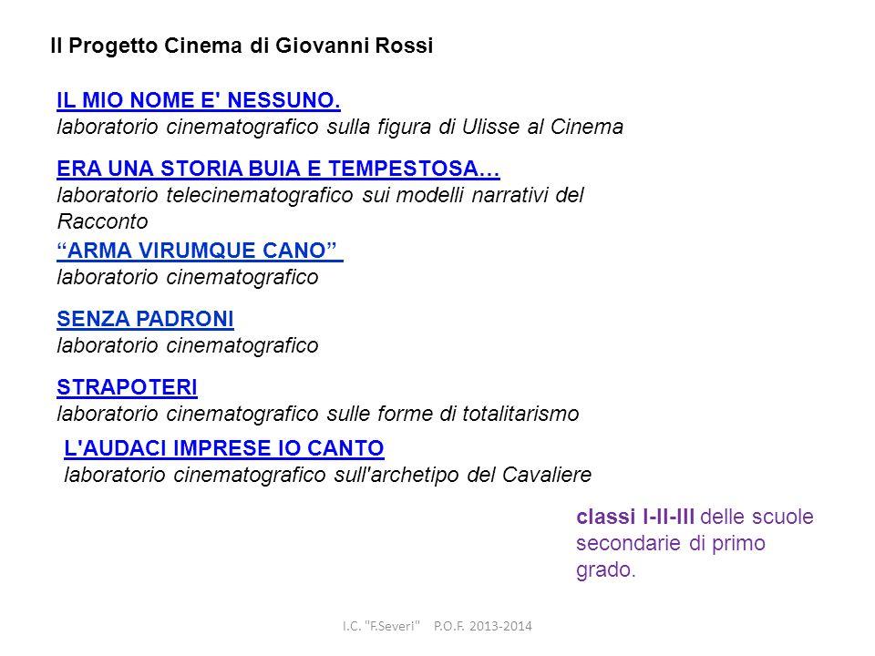 Il Progetto Cinema di Giovanni Rossi
