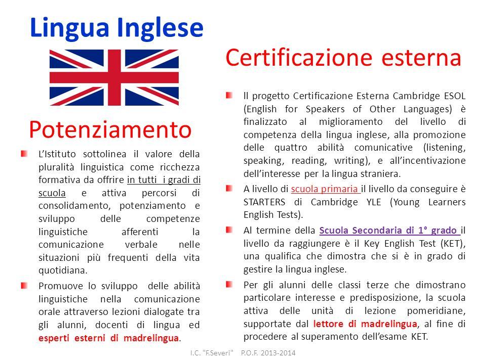 Lingua Inglese Certificazione esterna Potenziamento
