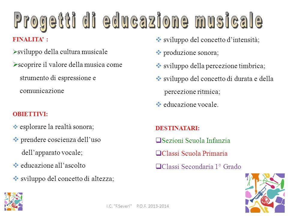 Progetti di educazione musicale