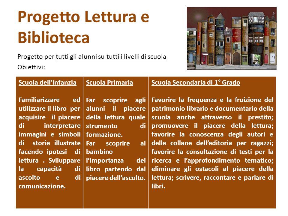 Progetto Lettura e Biblioteca