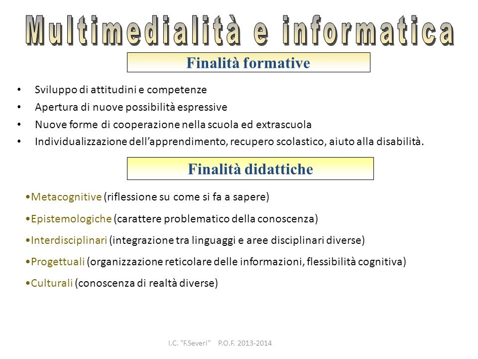 Multimedialità e informatica