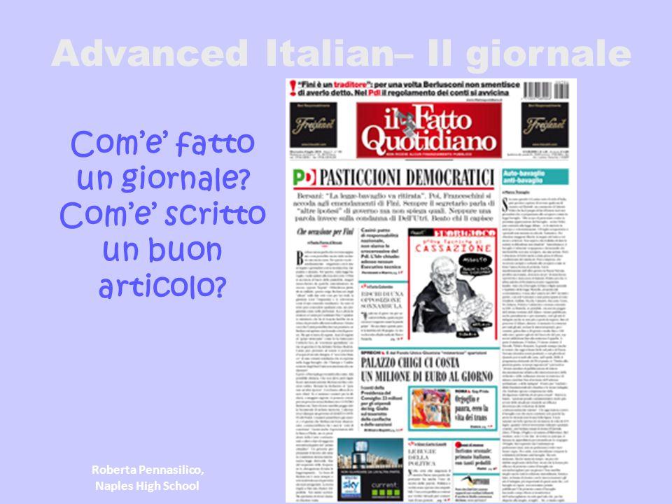Advanced Italian– Il giornale
