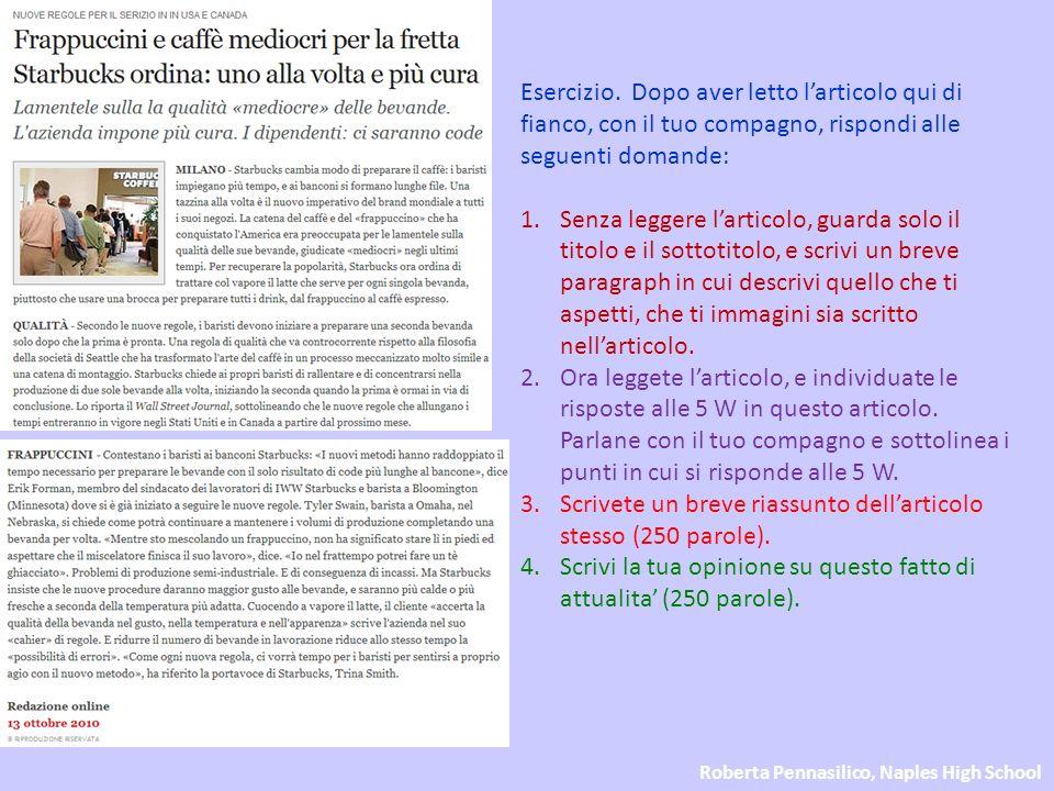 Roberta Pennasilico, Naples High School