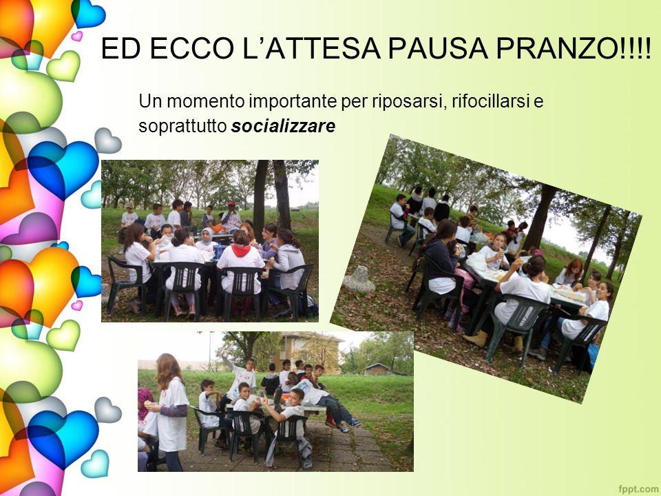ED ECCO L'ATTESA PAUSA PRANZO!!!!