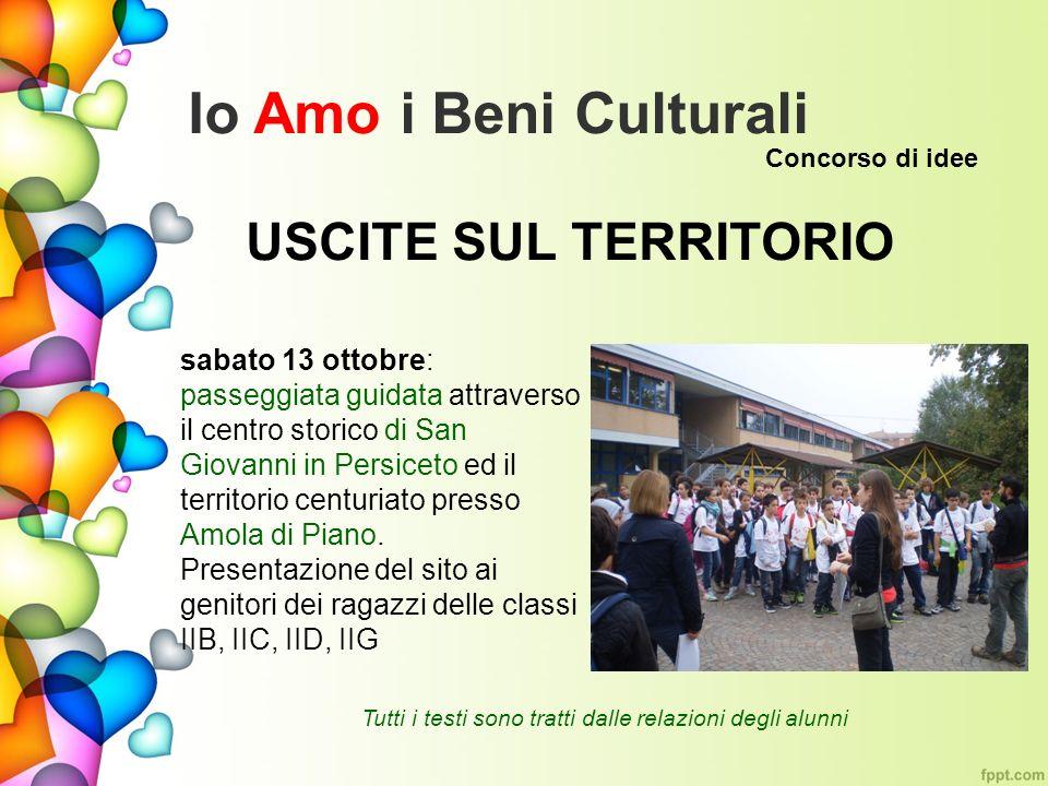 Io Amo i Beni Culturali USCITE SUL TERRITORIO