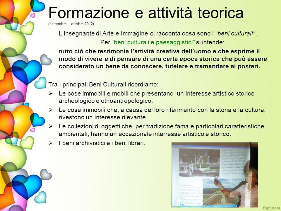 Formazione e attività teorica (settembre – ottobre 2012)