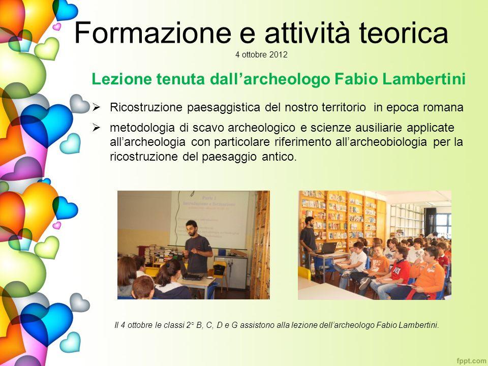 Formazione e attività teorica 4 ottobre 2012