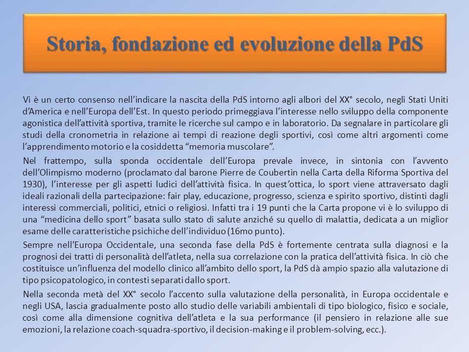Storia, fondazione ed evoluzione della PdS