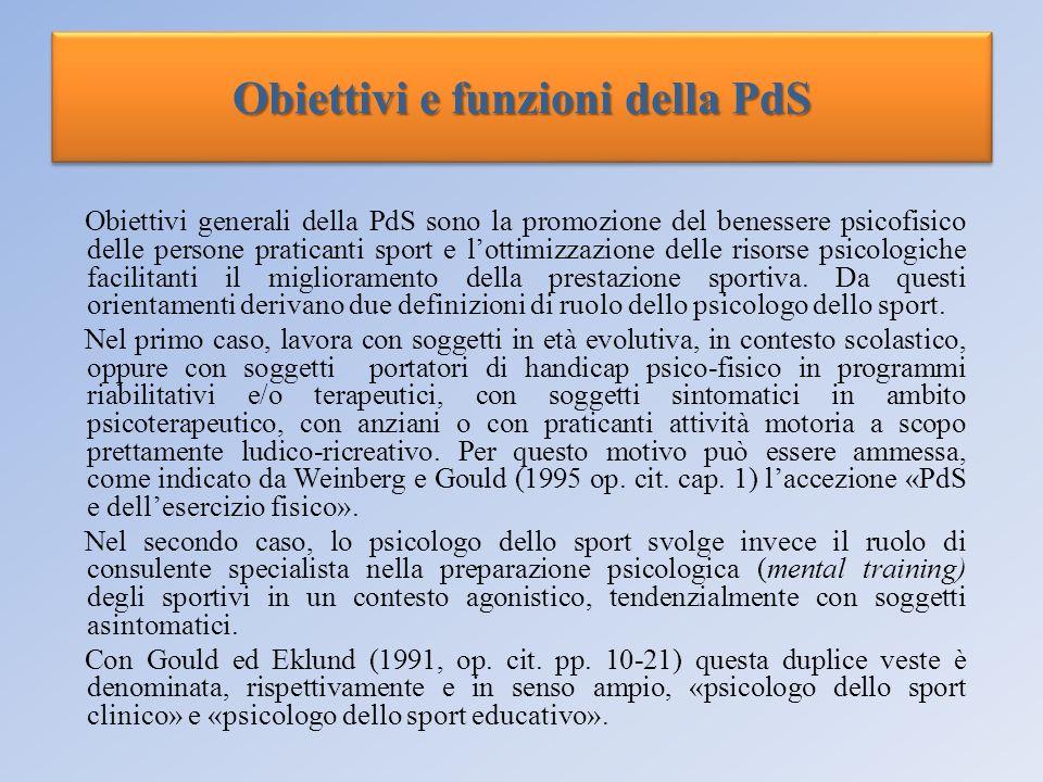 Obiettivi e funzioni della PdS