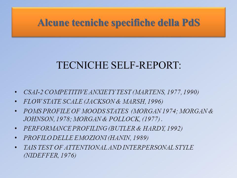 Alcune tecniche specifiche della PdS