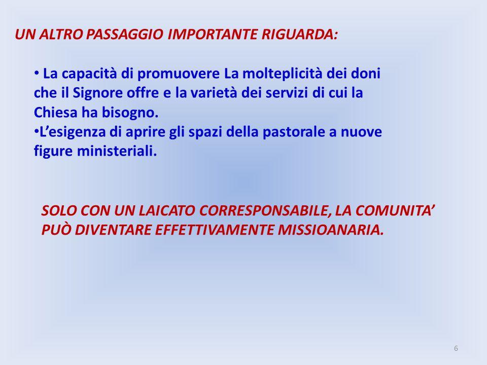 UN ALTRO PASSAGGIO IMPORTANTE RIGUARDA: