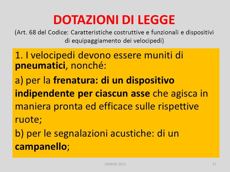 DOTAZIONI DI LEGGE (Art