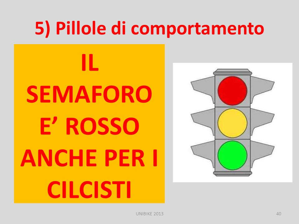 5) Pillole di comportamento
