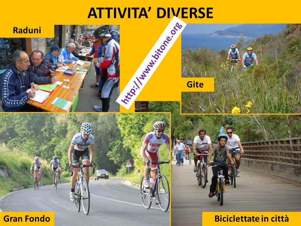 ATTIVITA' DIVERSE http://www.bitone.org Raduni Gite Gran Fondo