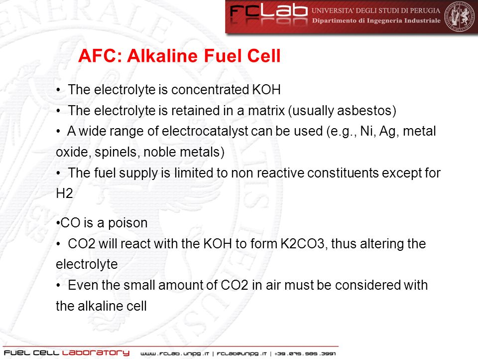 AFC: Alkaline Fuel Cell