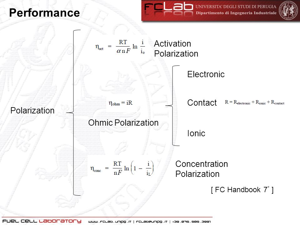 Performance Activation Polarization Electronic Contact Polarization
