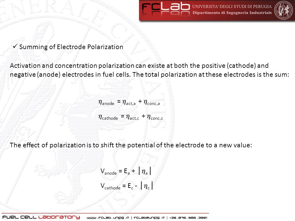 Summing of Electrode Polarization