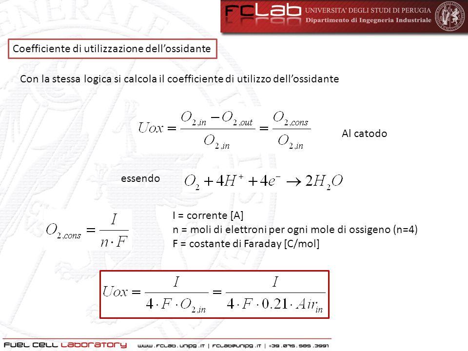Coefficiente di utilizzazione dell'ossidante