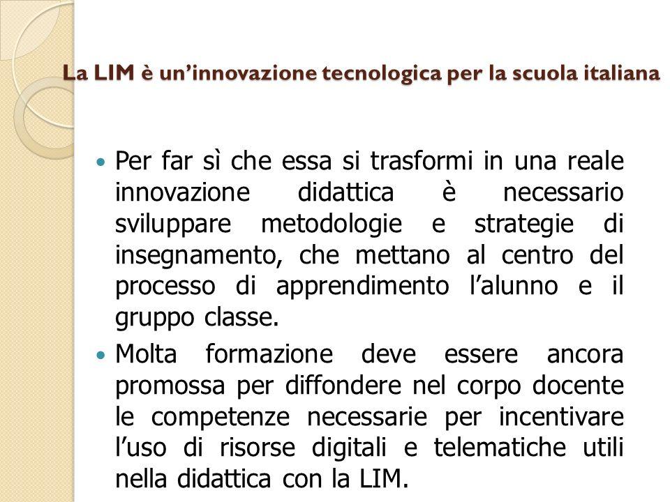 La LIM è un'innovazione tecnologica per la scuola italiana