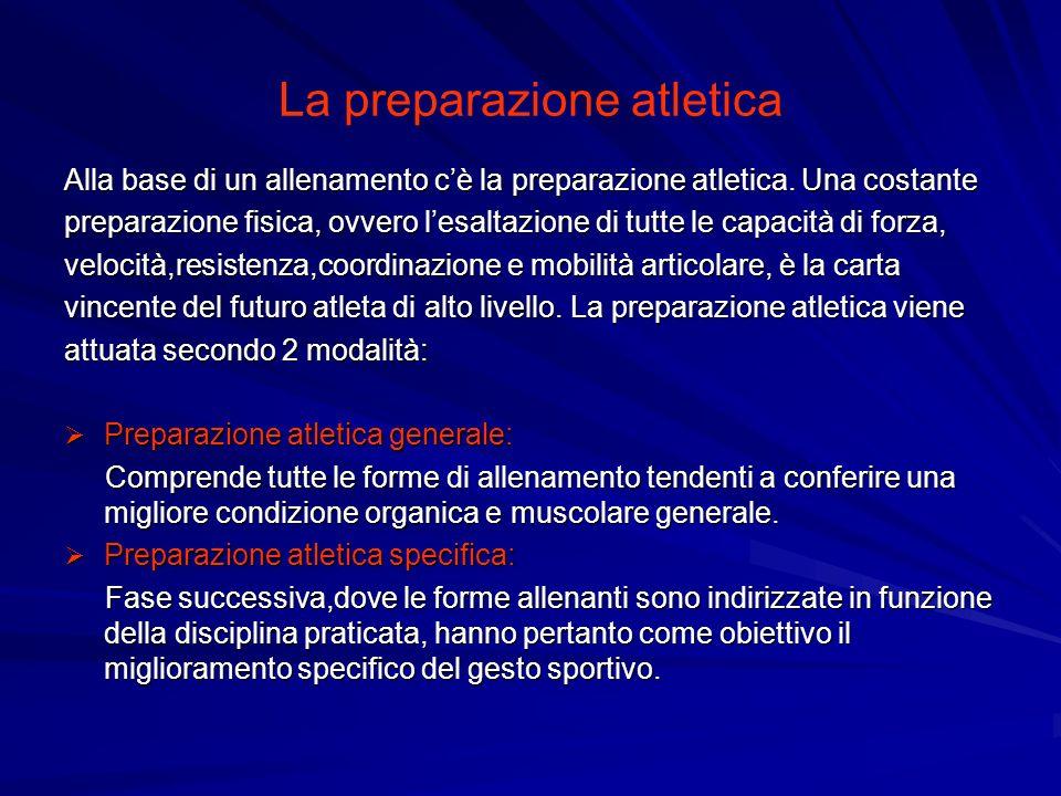 La preparazione atletica