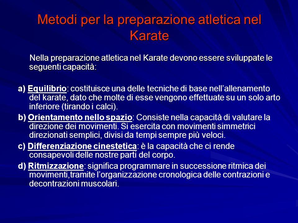 Metodi per la preparazione atletica nel Karate