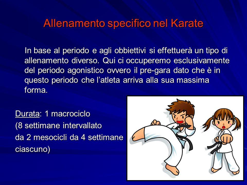 Allenamento specifico nel Karate