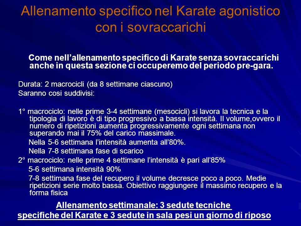 Allenamento specifico nel Karate agonistico con i sovraccarichi
