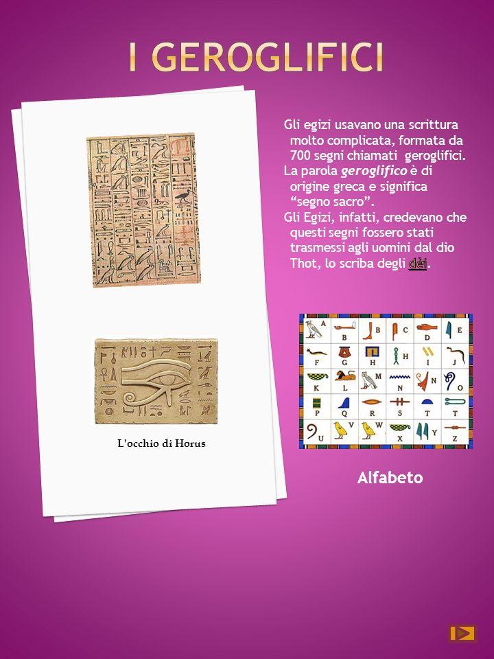 I geroglifici Alfabeto