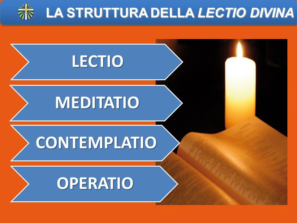 LECTIO MEDITATIO CONTEMPLATIO OPERATIO