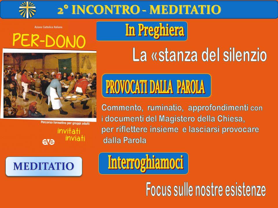 2° INCONTRO - MEDITATIO MEDITATIO In Preghiera Interroghiamoci