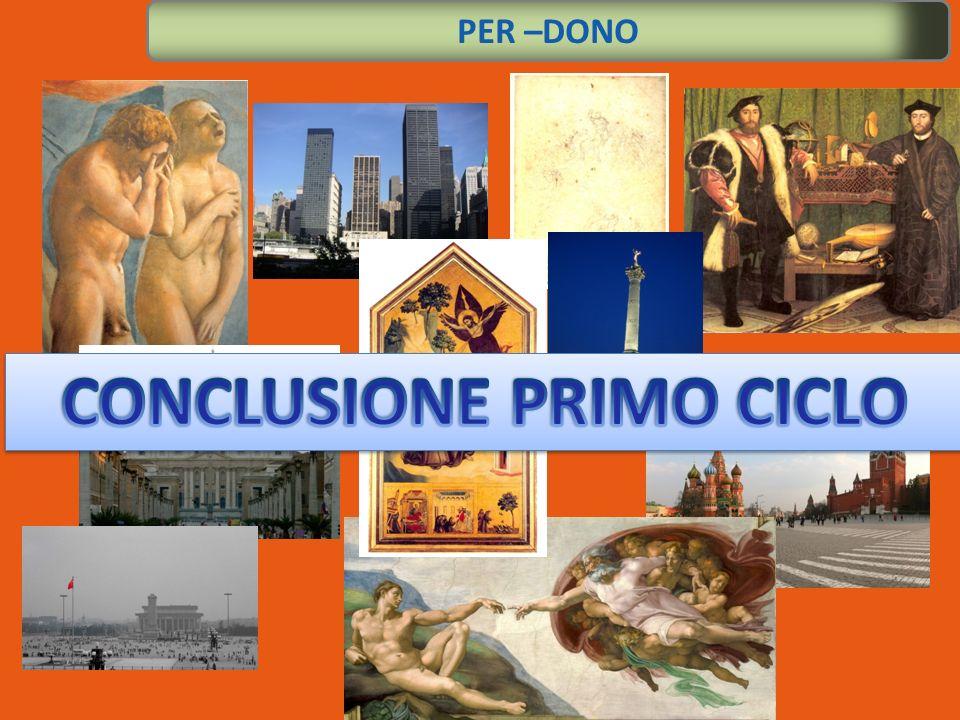 CONCLUSIONE PRIMO CICLO
