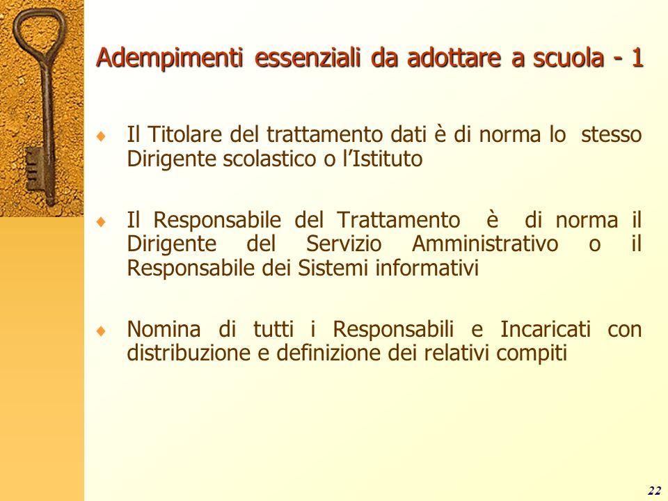 Adempimenti essenziali da adottare a scuola - 1